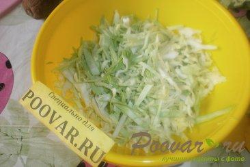 Салат из молодой капусты и киви Шаг 3 (картинка)