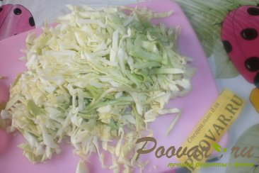 Салат из молодой капусты и киви Шаг 2 (картинка)