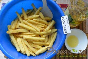 Картофель фри с маслом в духовке Шаг 6 (картинка)