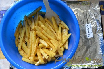 Картофель фри с маслом в духовке Шаг 7 (картинка)