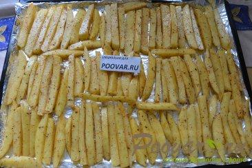 Картофель фри с маслом в духовке Шаг 8 (картинка)