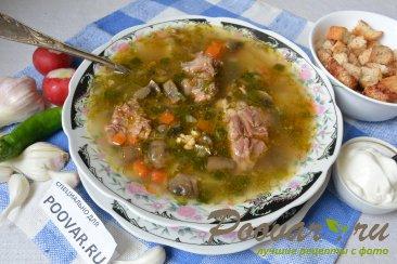 Суп с мясом и грибами в мультиварке-скороварке Изображение