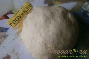 Пирог с сыром и колбасой из дрожжевого теста Шаг 5 (картинка)