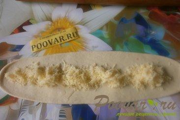 Пирог с сыром и колбасой из дрожжевого теста Шаг 9 (картинка)