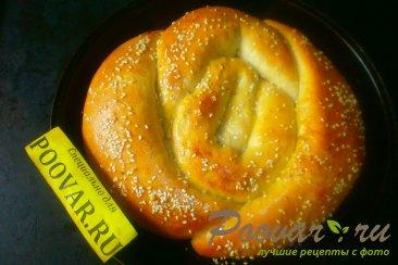 Пирог с сыром и колбасой из дрожжевого теста Шаг 14 (картинка)