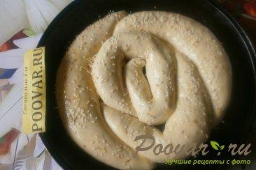 Пирог с сыром и колбасой из дрожжевого теста Шаг 13 (картинка)