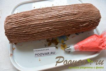 Бисквитный рулет с кремом из масла и сгущенки Шаг 18 (картинка)