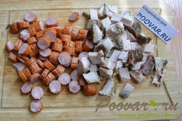 Суп с фасолью и колбасой в мультиварке-скороварке Шаг 3 (картинка)