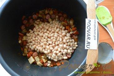 Суп с фасолью и колбасой в мультиварке-скороварке Шаг 5 (картинка)