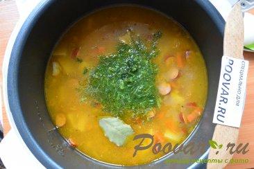 Суп с фасолью и колбасой в мультиварке-скороварке Шаг 8 (картинка)