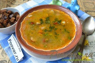 Суп с фасолью и колбасой в мультиварке-скороварке Шаг 10 (картинка)