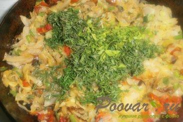Мини пироги с капустой и вялеными помидорами Шаг 9 (картинка)