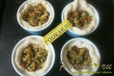 Мини пироги с капустой и вялеными помидорами Шаг 15 (картинка)