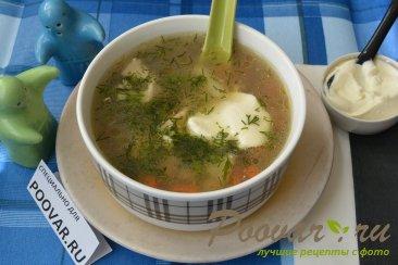 Мясной суп с гречкой Изображение