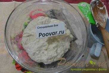 Хлеб с чесноком и сыром без замеса теста Шаг 4 (картинка)