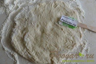 Хлеб с чесноком и сыром без замеса теста Шаг 7 (картинка)