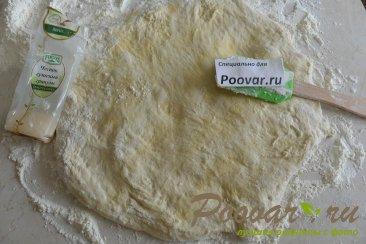 Хлеб с чесноком и сыром без замеса теста Шаг 8 (картинка)
