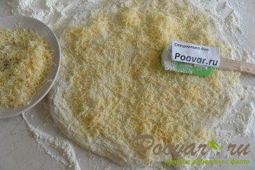 Хлеб с чесноком и сыром без замеса теста Шаг 9 (картинка)
