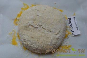 Хлеб с чесноком и сыром без замеса теста Шаг 13 (картинка)