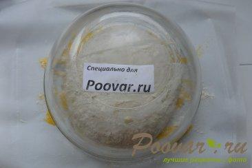 Хлеб с чесноком и сыром без замеса теста Шаг 14 (картинка)