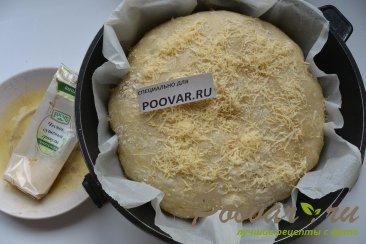 Хлеб с чесноком и сыром без замеса теста Шаг 17 (картинка)
