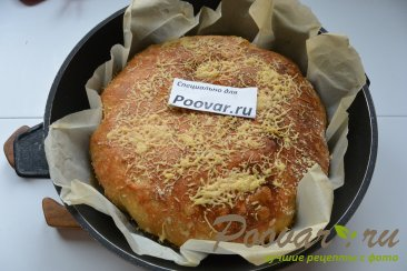 Хлеб с чесноком и сыром без замеса теста Шаг 18 (картинка)