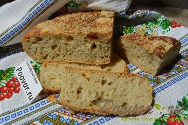 Хлеб с чесноком и сыром без замеса теста Шаг 19 (картинка)