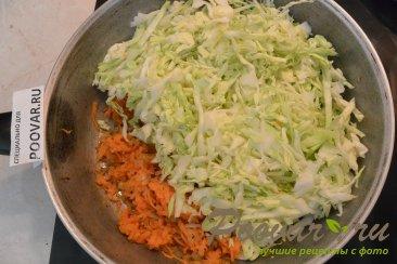 Пирог из лаваша с капустой и фаршем Шаг 6 (картинка)