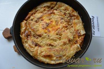 Пирог из лаваша с капустой и фаршем Шаг 18 (картинка)