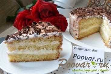 Торт с кремом из творожного сыра и сгущенки Изображение