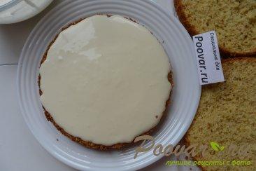 Торт с кремом из творожного сыра и сгущенки Шаг 15 (картинка)