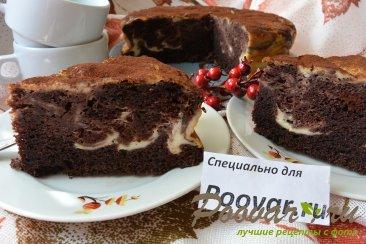 Шоколадно-творожный пирог Изображение
