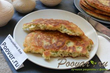 Лепешки с сыром и зеленью на сковороде Шаг 14 (картинка)