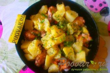 Картофель с куриными крылышками Шаг 13 (картинка)