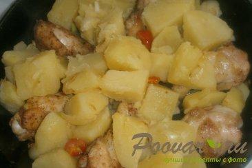 Картофель с куриными крылышками Шаг 12 (картинка)