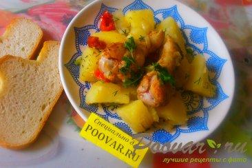 Картофель с куриными крылышками Шаг 14 (картинка)