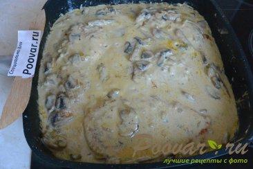 Куриные отбивные с грибами в сливочном соусе Шаг 16 (картинка)