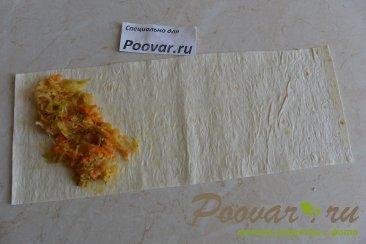 Пирожки из лаваша с капустой Шаг 6 (картинка)