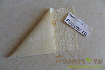 Пирожки из лаваша с капустой Шаг 7 (картинка)