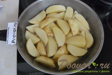 Картофель с овощами на сковороде Шаг 2 (картинка)