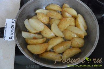 Картофель с овощами на сковороде Шаг 3 (картинка)