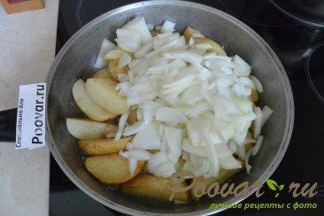 Картофель с овощами на сковороде Шаг 5 (картинка)