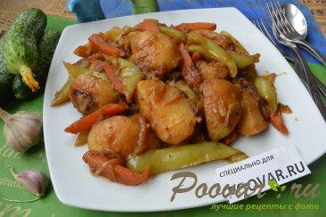 Картофель с овощами на сковороде Шаг 12 (картинка)