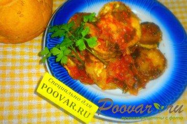 Хек с кабачками в томатном соусе Изображение