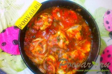 Хек с кабачками в томатном соусе Шаг 19 (картинка)