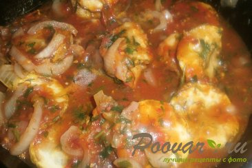 Хек с кабачками в томатном соусе Шаг 18 (картинка)