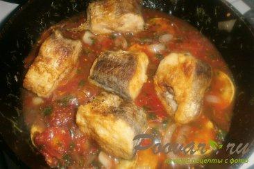 Хек с кабачками в томатном соусе Шаг 17 (картинка)