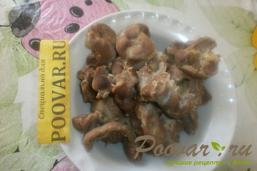 Лаваш с куриными желудками Шаг 2 (картинка)