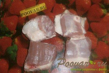Свиная грудинка с фасолью Шаг 2 (картинка)