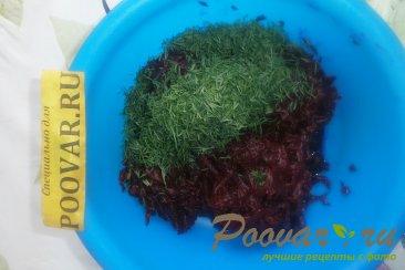 Салат из свёклы с укропом и изюмом Шаг 6 (картинка)
